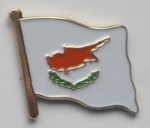 Cyprus Country Flag Enamel Pin Badge
